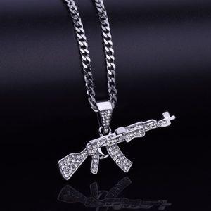 New Hip Hop Bling AKA 47 Gun Pendant